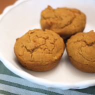 gluten free vegan apple pumpkin muffins