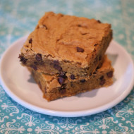 gluten free vegan blondies