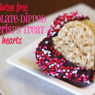 guest post…gluten free chocolate-dipped rice crispy treat hearts