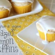 guest post…gluten free vegan glazed lemon muffins