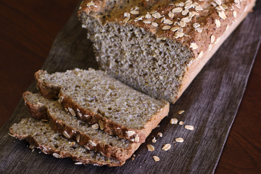 Gluten Free Vegan Everyday Bread. A beautiful, hearty loaf of gluten free bread!