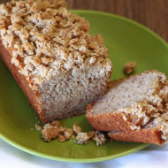 gluten free vegan mini banana streusel loaves