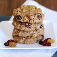 gluten free vegan fruity oatmeal cookies