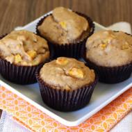 gluten free vegan banana peach muffins