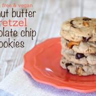 guest post…gluten free vegan peanut butter pretzel chocolate chip cookies