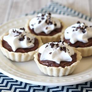 gluten free vegan mini chocolate cream pies