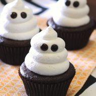 gluten free vegan ghost cupcakes