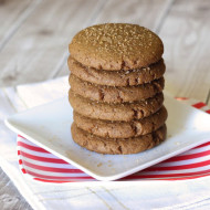 gluten free vegan soft gingersnap cookies