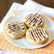 gluten free vegan pumpkin cinnamon roll sugar cookies