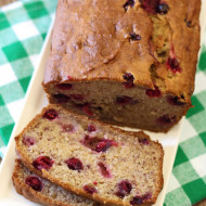 gluten free vegan banana cranberry bread