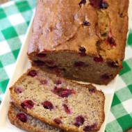 gluten free vegan banana cranberry bread