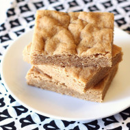 gluten free vegan peanut butter cookie bars