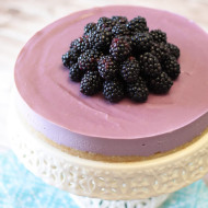 gluten free vegan blackberry cheesecake