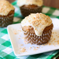 gluten free vegan carrot coconut morning glory muffins