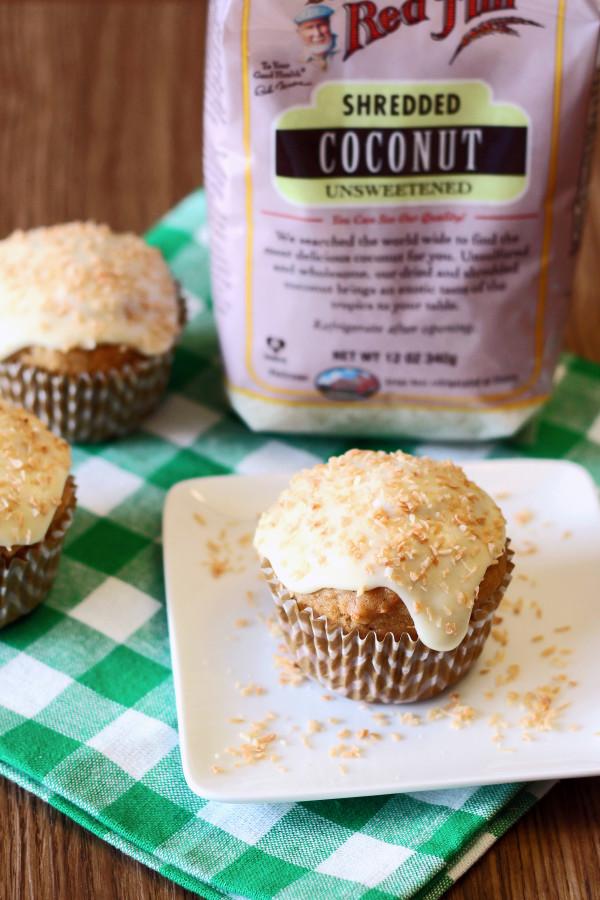 gluten free vegan carrot coconut morning glory muffins3