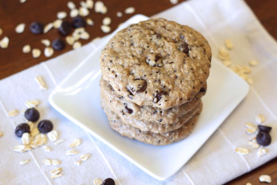gluten free vegan chocolate chip breakfast cookies