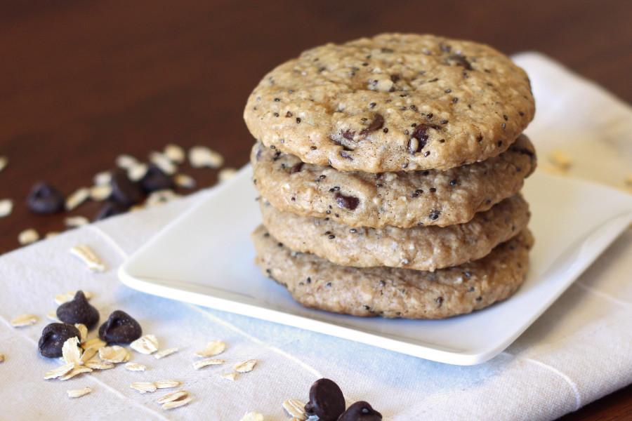 gluten free vegan chocolate chip breakfast cookies2