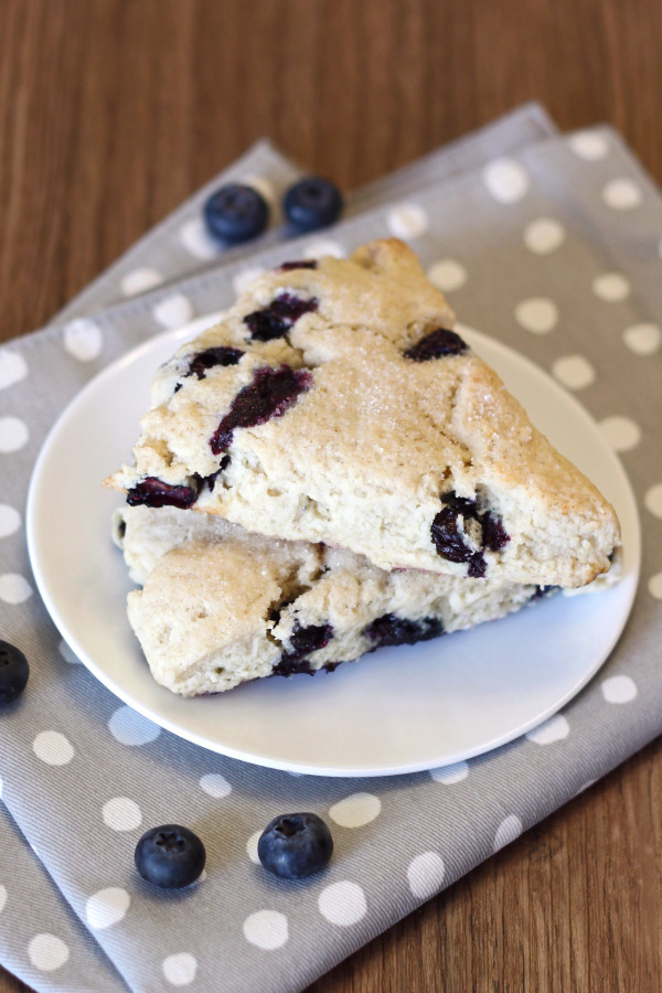 gluten free vegan blueberry scones2