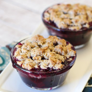 gluten free vegan individual berry crisps and the good scone giveaway