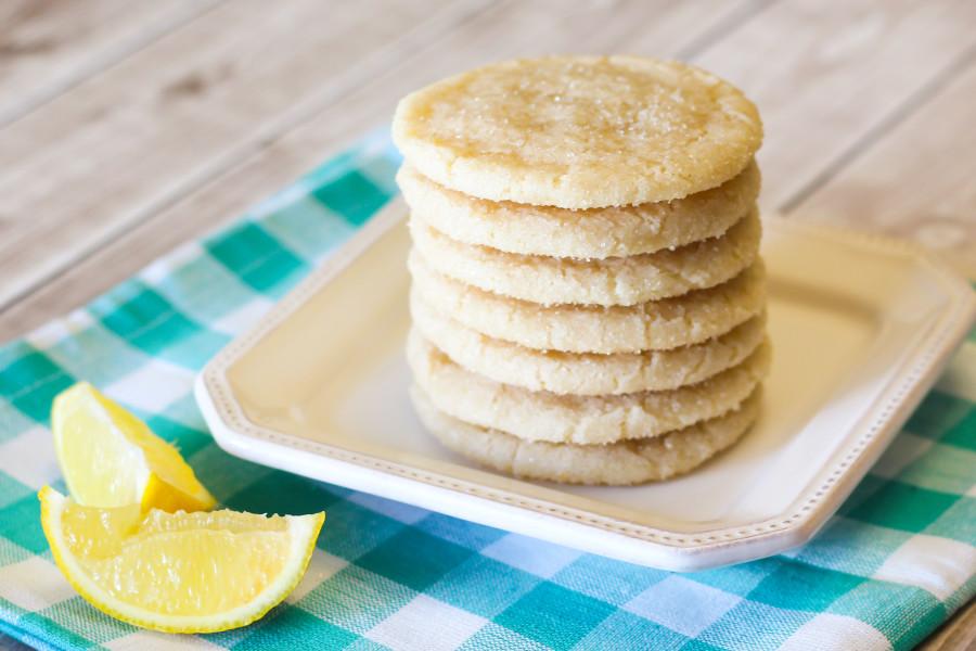 gluten free vegan chewy lemon sugar cookies