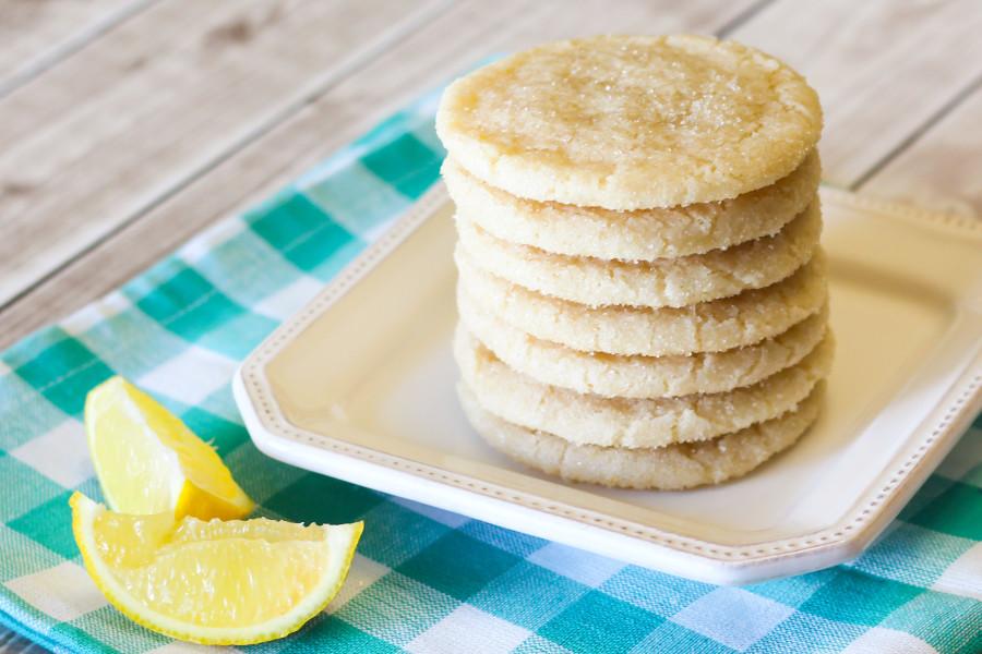 gluten free vegan chewy lemon sugar cookies2