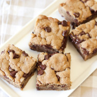 gluten free vegan chocolate chip peanut butter cookie bars