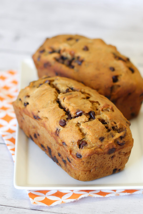 gluten free vegan chocolate chip pumpkin banana bread2
