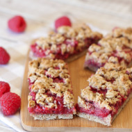 gluten free vegan raspberry oat breakfast bars