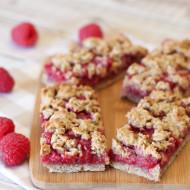 gluten free vegan raspberry oat breakfast bars