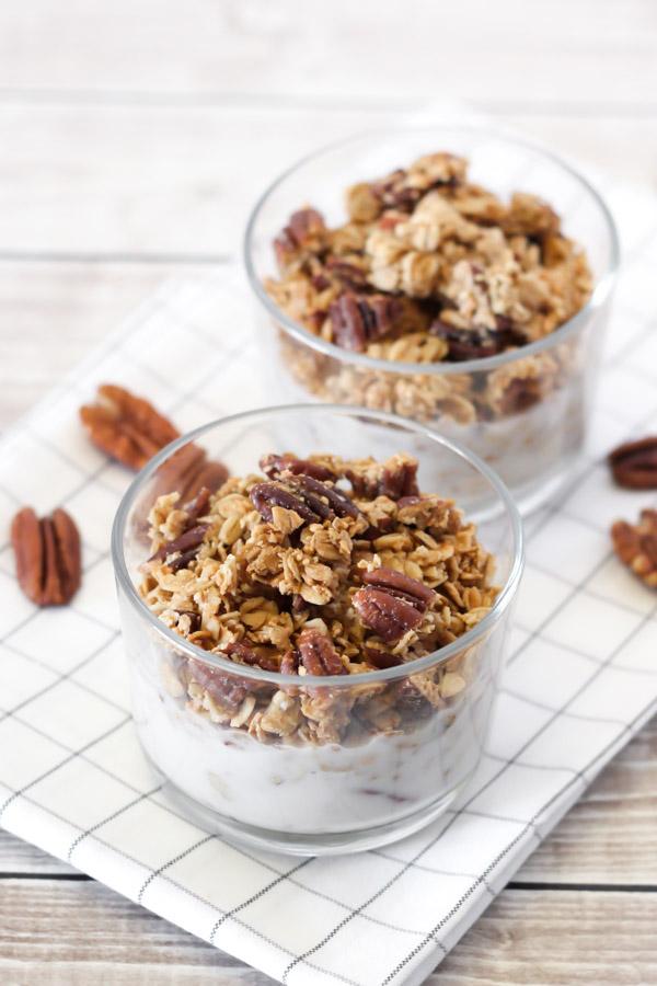 gluten free maple pecan granola