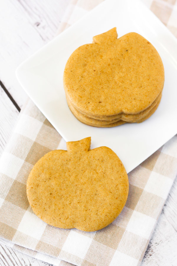 Gluten Free Vegan Pumpkin Cutout Sugar Cookies