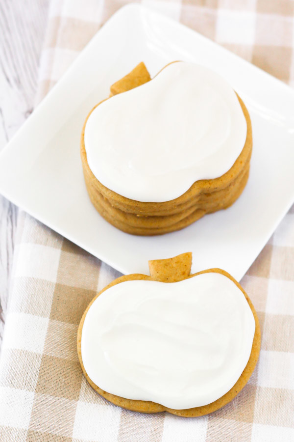 Gluten Free Vegan Pumpkin Cutout Cookies. These soft pumpkin sugar cookies are perfect for decorating too!