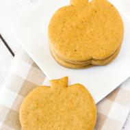 gluten free vegan pumpkin cutout cookies