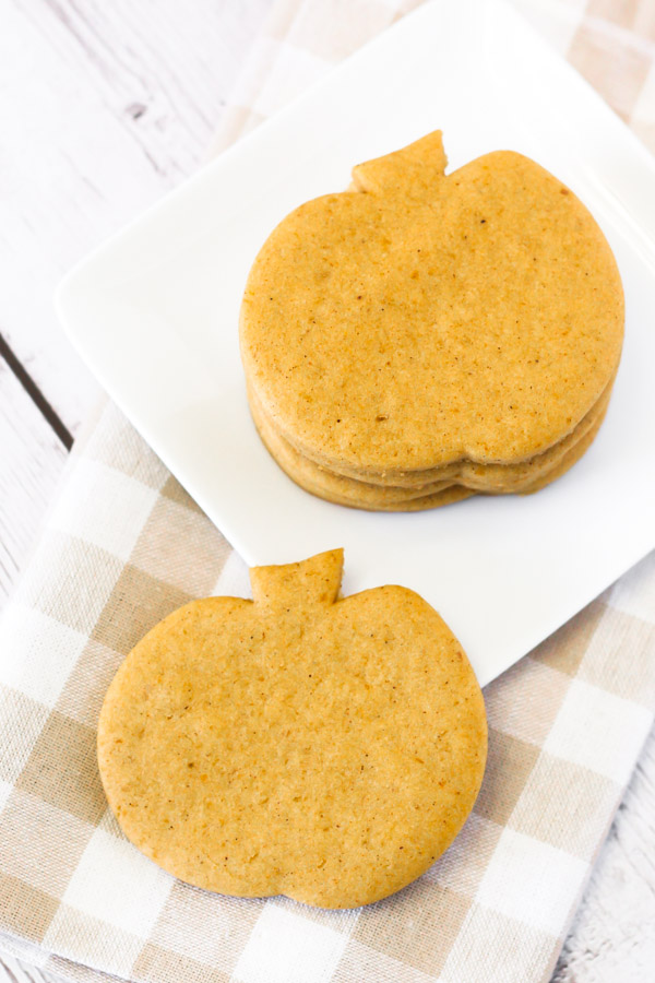 Gluten Free Vegan Pumpkin Cutout Sugar Cookies