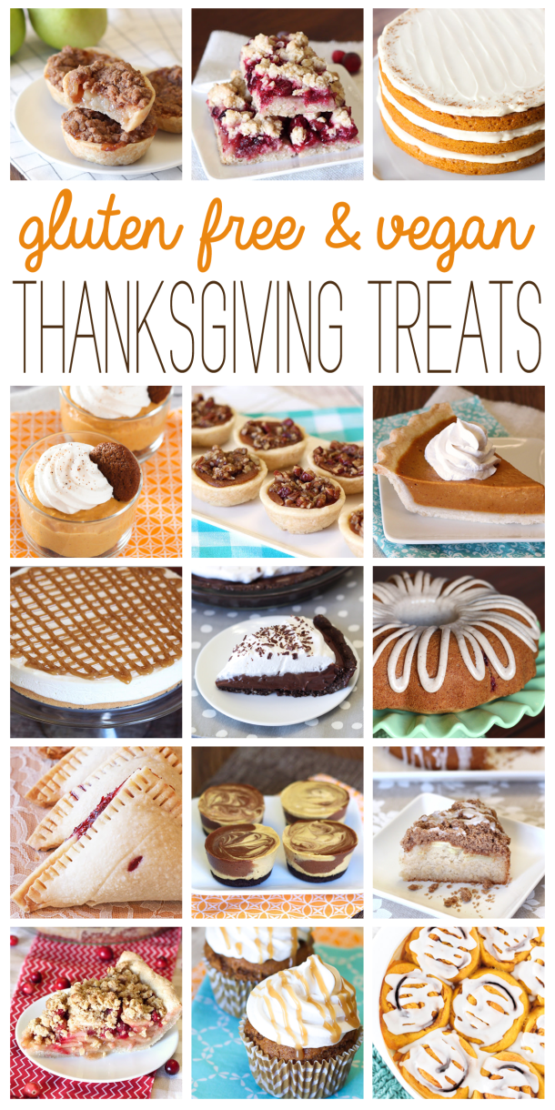 gluten free & vegan thanksgiving treats