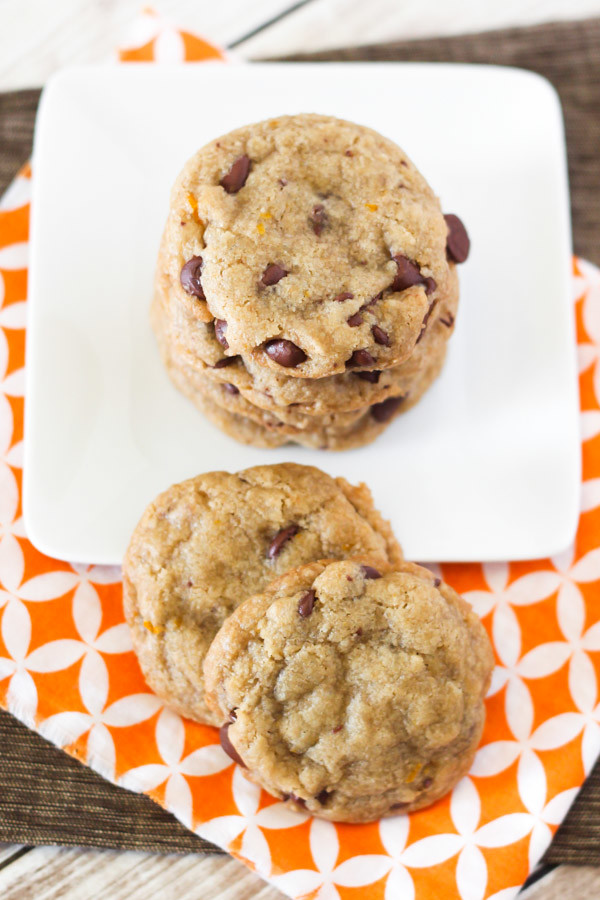 gluten free vegan orange chocolate chip cookies2
