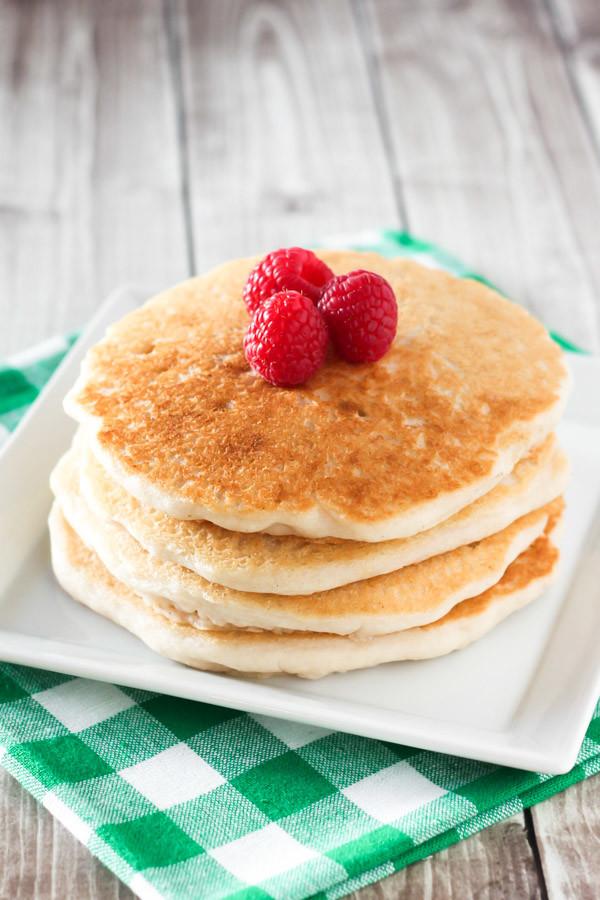 Gluten Free Vegan Pancakes. The only allergen free pancake recipe you need!