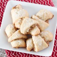 gluten free vegan walnut crescent cookies