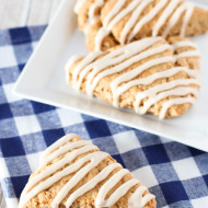 gluten free vegan maple oat scones