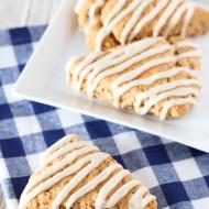 gluten free vegan maple oat scones