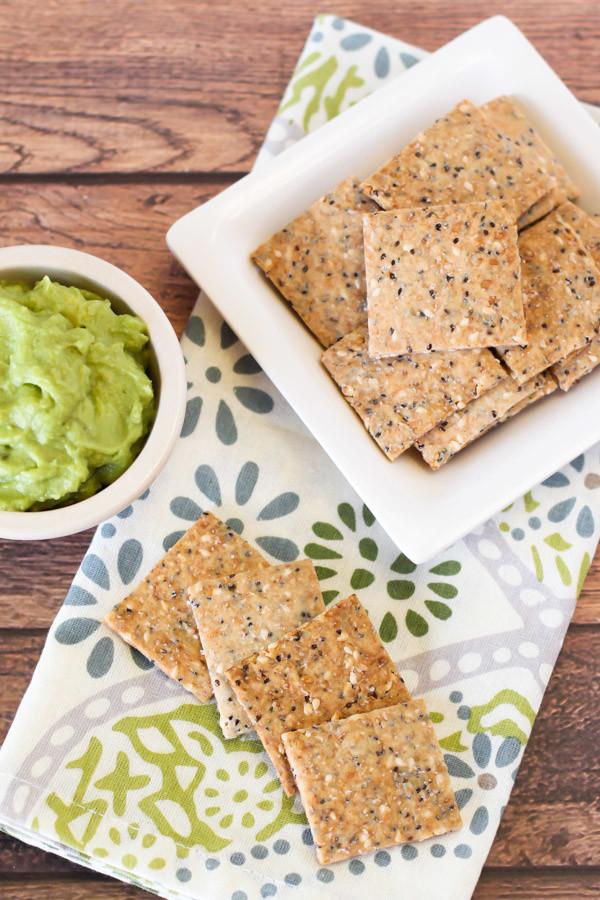 gluten free vegan seeded crackers - Sarah Bakes Gluten Free