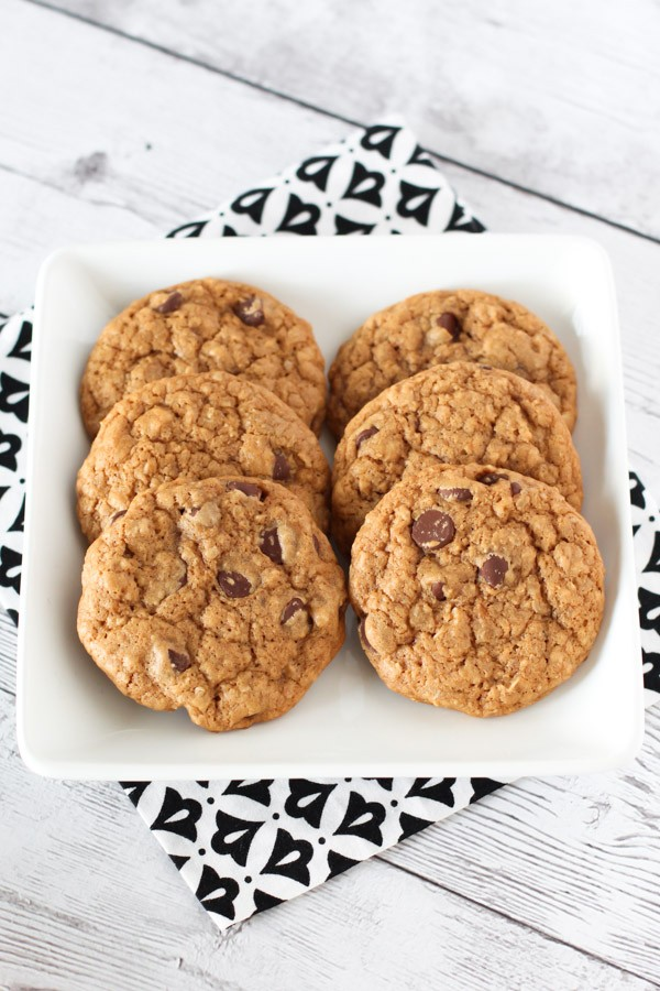 Gluten Free Vegan Soft Chocolate Chip Cookies. You can't eat just one!