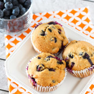 gluten free vegan blueberry orange muffins
