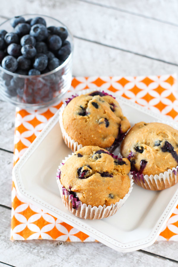 Gluten Free Vegan Blueberry Orange Muffins. Refined sugar free and oh ...