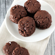 gluten free vegan mini double chocolate cookies