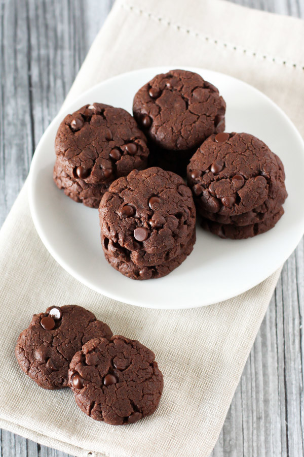gluten free vegan mini double chocolate cookies. decadent, tiny and you can't eat just one!