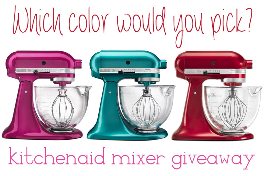 Sweets for you Sweeties Kitchenaid Mixer Giveaway!