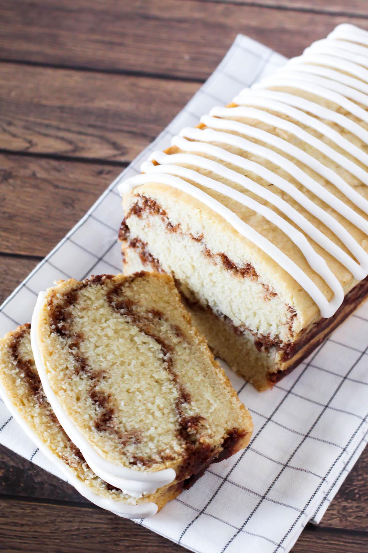 gluten free vegan cinnamon swirl quick bread