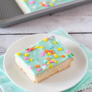 gluten free vegan frosted sugar cookie bars