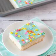 gluten free vegan frosted sugar cookie bars